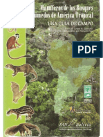 Mamiferos de Los Bosques Humedos de America Tropical - Una Guia de Campo (Laminas)