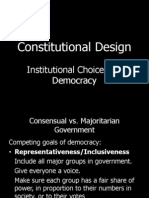 Institutional Designs. Exec and Elect Sys.7-2012