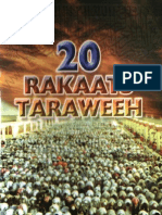 Proofs of 20 Rakat Taraweeh and that 8 rakat is a evil bidah