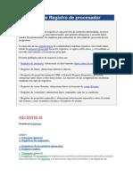 Definición de Registro de procesador