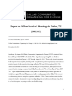 Report on Dallas Officer Involved Shootings (2013) (2)