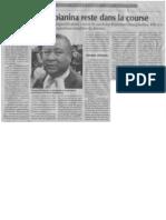 2013/11/14 - Analyse de la décision n°21-CES/D rejettant la disqualification  (Express de Madagascar du 14 novembre 2013) - Andrianjo dit Zo Razanamasy/Me Rija Rakotomalala