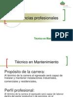 Catálogo de Competencias Profesionales Mantenimiento