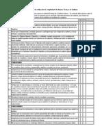 Check list autoevaluación auditoría