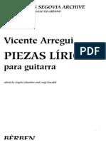 Arregui Vicente - Piezas Liricas (a.gilardino)