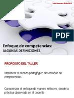 Resumen Enfoque de Competencias en La EBR (LGO 2013)