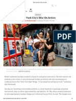 Newsweek New York City's War On Artists