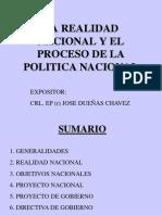 Realidad Nacional Proceso Politica