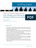 How to Finish a Revolution Georgia Moldova Ukraine