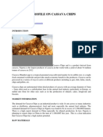 Industrial Profile on Cassava Chips Production