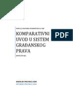 Komparativni Uvod u Sistem Gradjanskog Prava - Ispitna Pitanja