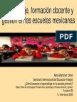 Aprendizaje, formación docente y gestión. Maestra Alba Martinez Olive