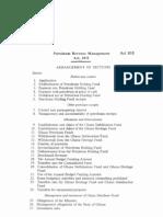 Petroluem Revenue Management Act815 2011