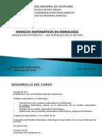 Presentacion Modelos Matematicos en Hidrologia