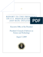 Swine Flu Presidential Preparations Report