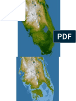 Map of southern florida with sea level rise