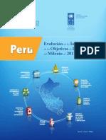 Evolución de los indicadores del milenio 2011