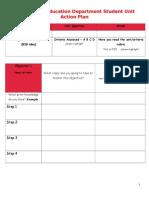 student unit action plan 2