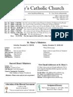 Bulletin for December 15, 2013