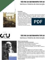 Técnicas retrospectivas - aula 1