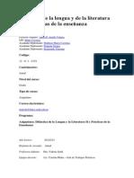 Didáctica de la lengua y de la literatura II y prácticas de la enseñanza