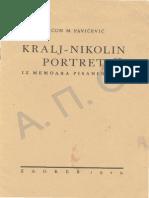 [1929] Mićun M. Pavićević - Kralj Nikolin portret