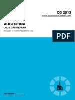 BMI Argentina Oil and Gas Report Q3 2013[1]