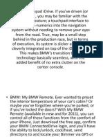Bmw Innovations & RnD