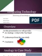 case study 10 integrating technology