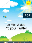 Mini Guide Twitter Pro par ConseilsMarketing