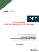 Evaluacion Sistema Educativo