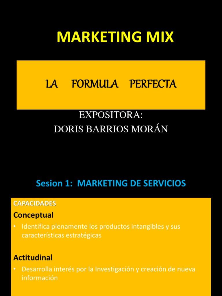 1º SESIÓN- fundamentos de marketing mix   Marketing