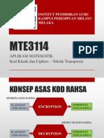 Mte3114 Kod Klasik Dan Cipher-kaedah Transposisi