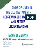 Almalech. The 8 Kinds of Linen on OT