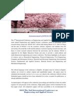 ICEAS2013 Brochure