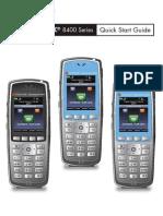 SPECTRALINK 8400 Series Quick Start Guide