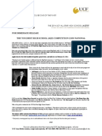 UCF All-Star High School Jazztet 2014 Press Release