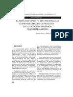 La Sistematizacion de Experiencias Comunitarias en El Proceso de Educacion Superior