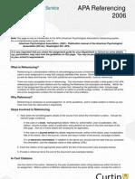APA Referencing 2006