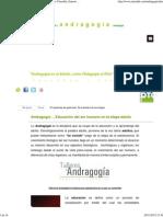 Andragogia_ La Educación en el Adulto, por Ernesto Yturralde, Ernesto Yturralde Worldwide Inc