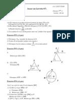 Devoir Controle 1 Math 1 secondaire