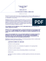 Rules on Small Claims, AM No. 08-8-7-SC, Oct. 27, 2009