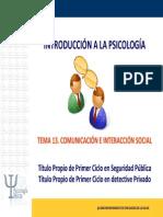 Tema 13. Comunicación e interacción social.