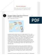 Banggai Collision Expedition (Sulawesi Timur), 1-8 Desember 2013 _ Geotrek Indonesia
