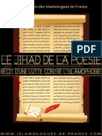 Le Jihad de La Poésie - Récit d'une Lutte Contre l'Islamophobie