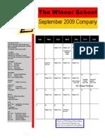 Sept 09 Calendar