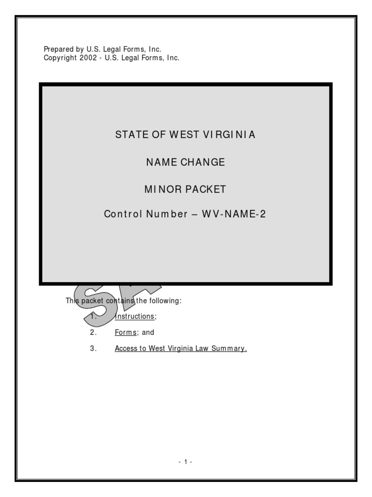 WV Legal Name Change | Social Institutions | Society