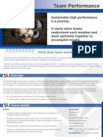 Team Performance One Pager