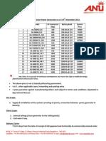 Price List for Solar Power Generators