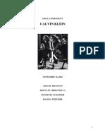 Calvin Klein Brand Audit